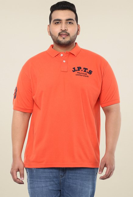 John Pride Orange Half Sleeves Polo T-Shirt