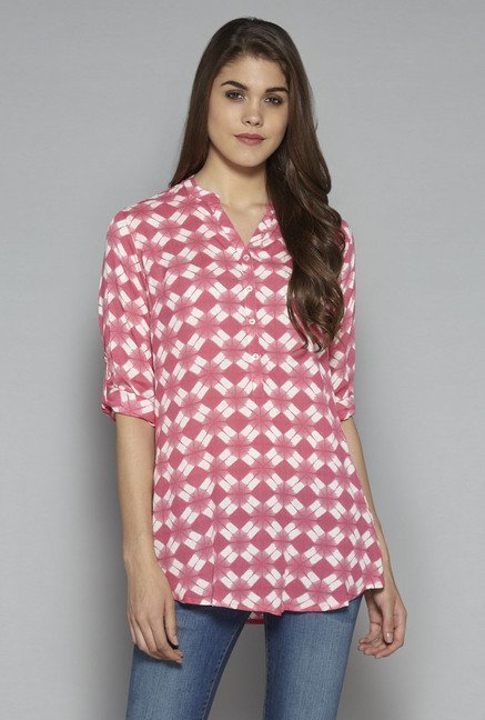 Utsa by Westside Pink Printed Kurti