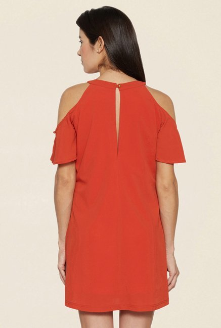 Globus Rust Cold Shoulder Dress