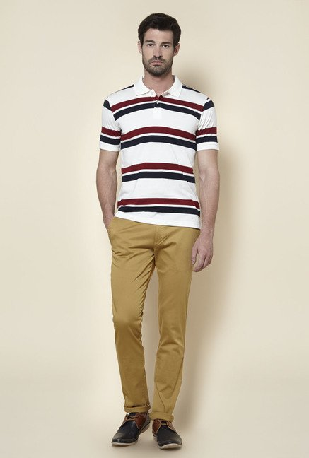 Zudio Beige Slim Fit Chinos