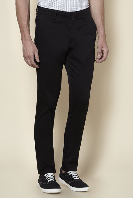 Zudio Black Slim Fit Chinos