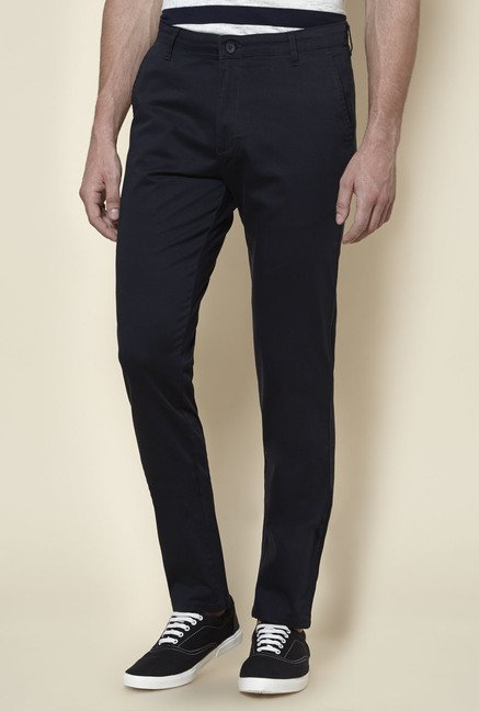 Zudio Navy Slim Fit Chinos