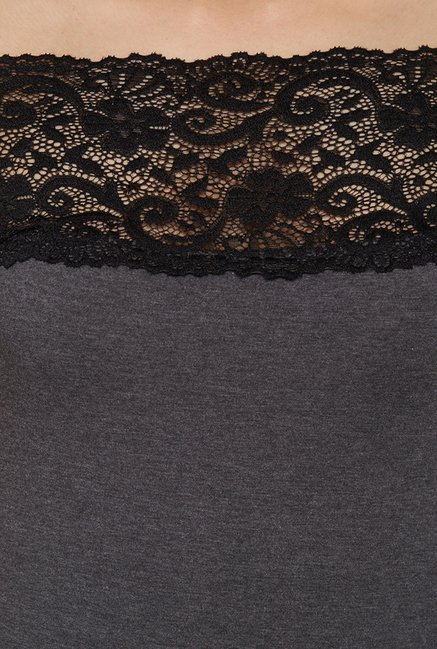 Globus Grey Lace Top