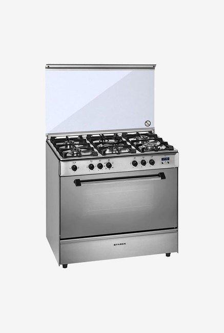 Faber 5 Burner FCR 114L 5B HECIR Gas Cooking Range (Silver)