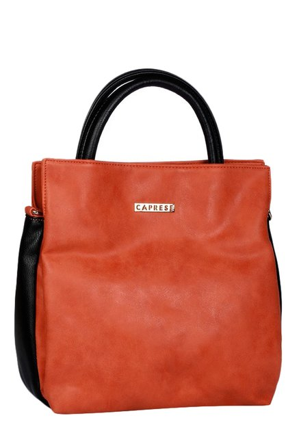 Caprese Hailey Brick Red Distressed Handbag