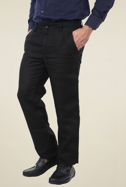 Turtle Black Slim Fit Trousers