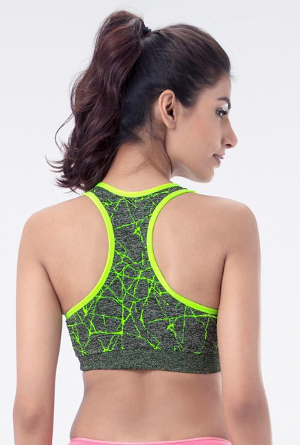 PrettySecrets Lime Padded Sports Bra