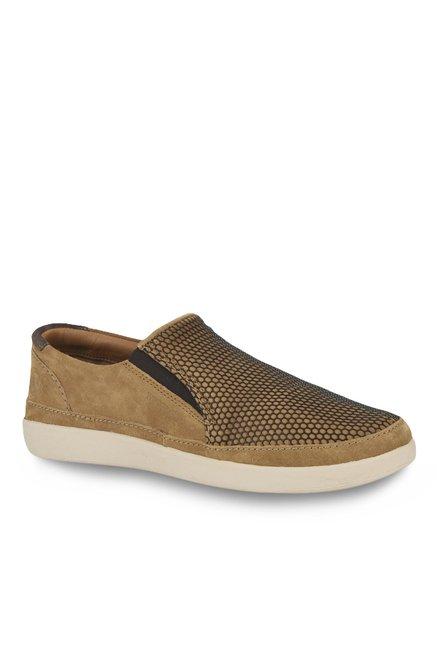 Buy Woodland Camel \u0026 Brown Slip-Ons for