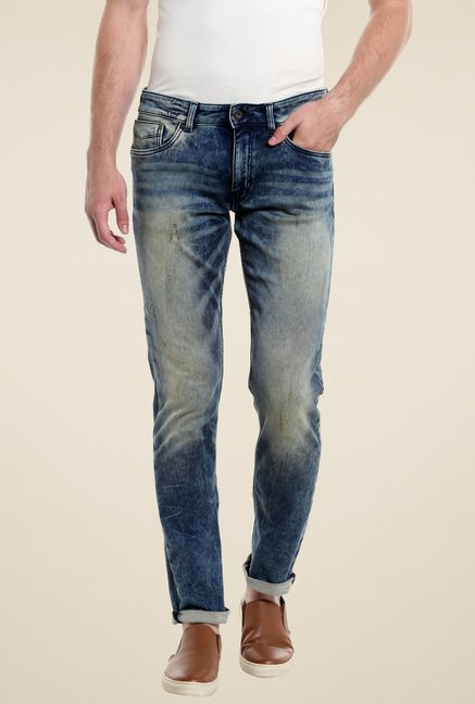 Jack & Jones Blue Low Rise Jeans