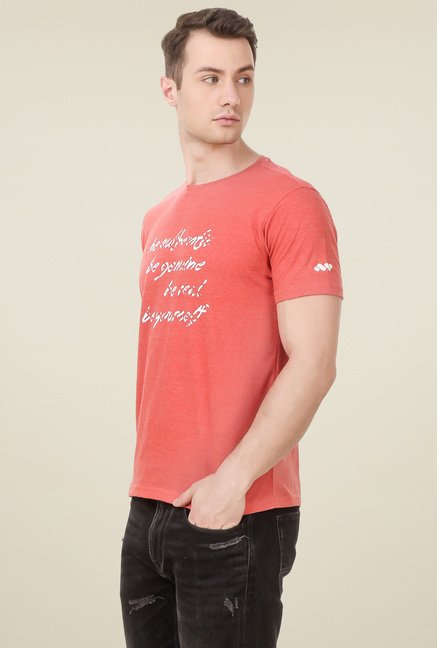 Spunk Pink  Regular Fit T-Shirt