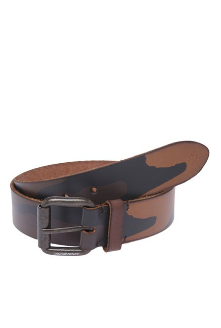 Jack & Jones JJ Camo Print Brown Stone Belt