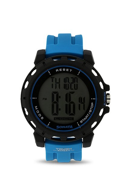 Sonata 77037PP02J Ocean Series Digital Black Dial Men's Watch