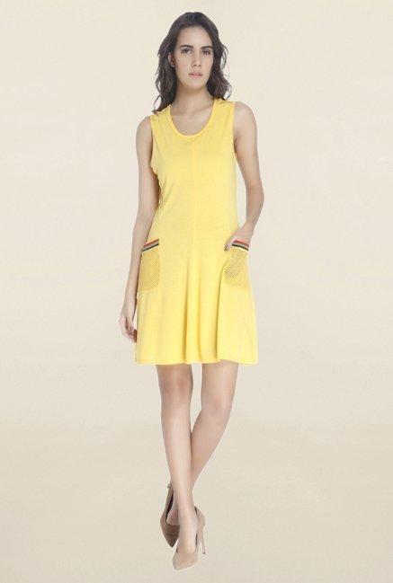 137eb2181ad3bf Buy Vero Moda Yellow Sleeveless Dress for Women Online   Tata CLiQ