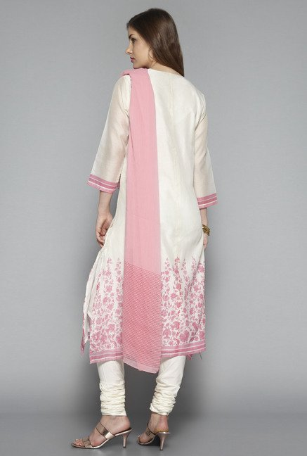 Vark by Westside Off White Embroidered Suit Set