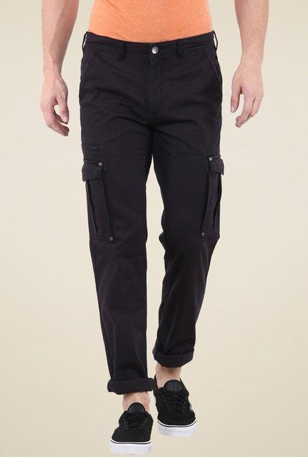 celio* Black Mid Rise Cargo Pants