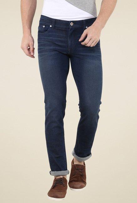 celio* Dark Blue Lightly Washed Slim Fit Jeans