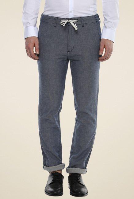 celio* Steel Blue Slim Fit Trousers