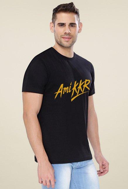 e8541054b Buy The Souled Store Black Printed T-Shirt (KKR- Ami KKR) for Men ...