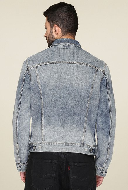Levi's Steel Blue Full Sleeves Jacket