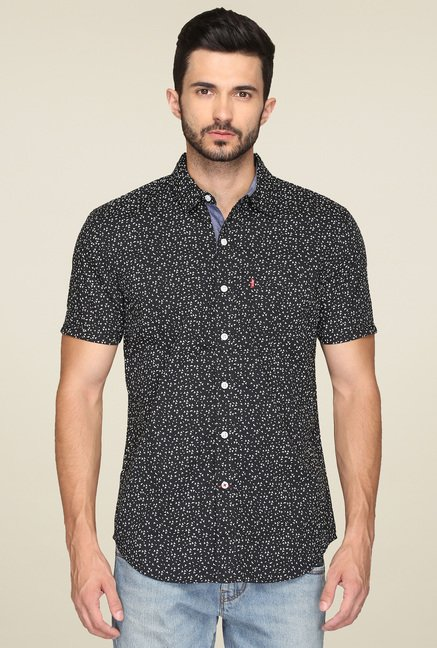 Levi's Black Half Sleeves Shirt