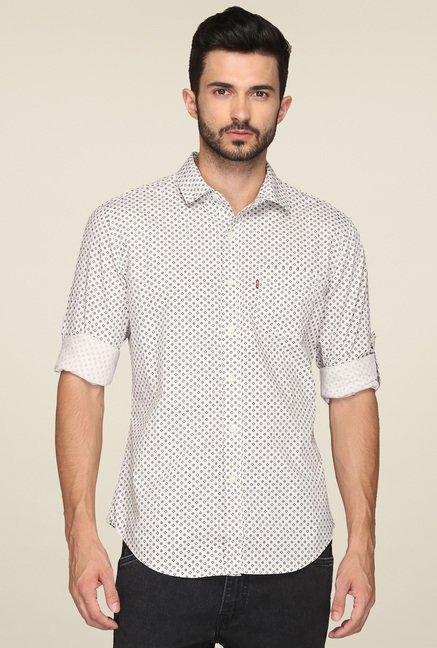 Levi's Off-White Printed Shirt