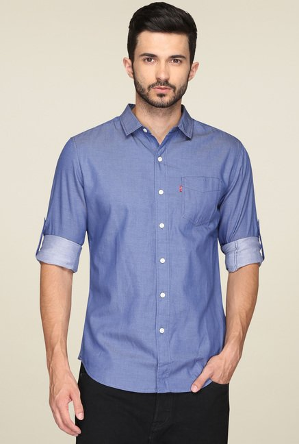 Levi's Blue Full Sleeves Shirt