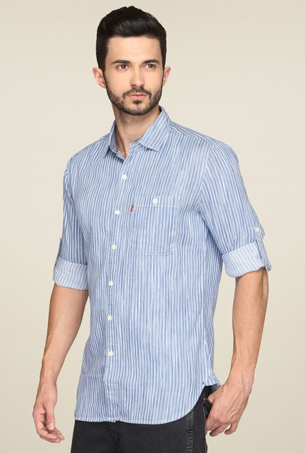 Levi's Blue Striped Shirt