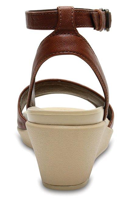 5abf271fd9cb Buy Crocs Leigh Ann Hazelnut Ankle Strap Wedges for Women at Best ...