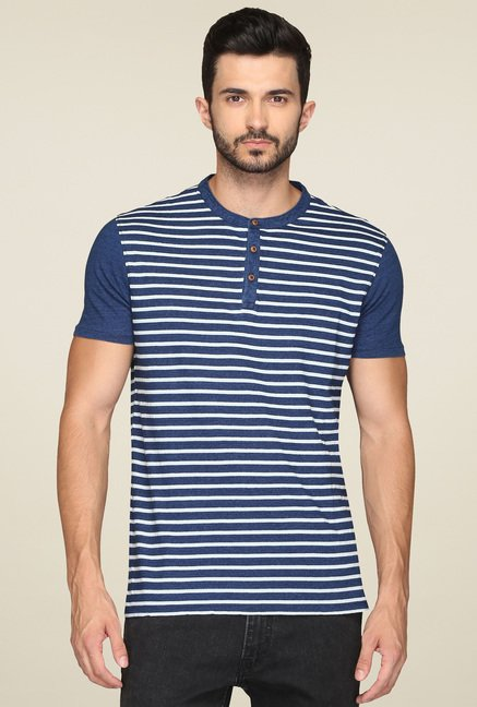 Levi's Blue Short Sleeves Henley T-Shirt