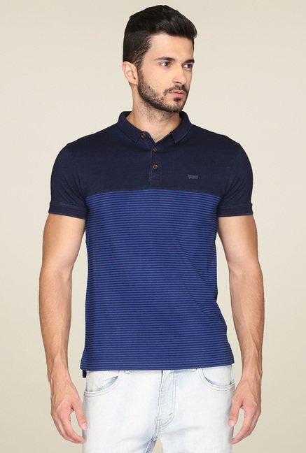 Levi's Navy & Royal Blue Polo T-Shirt
