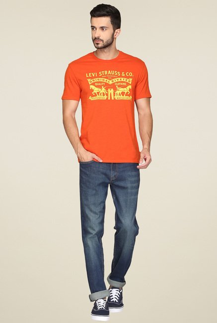 Levi's Orange Regular Fit T-Shirt