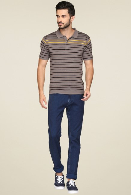 Levi's Taupe & Black Polo T-Shirt