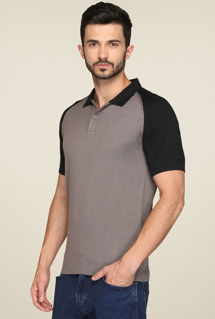 Levi's Black & Taupe Polo T-Shirt