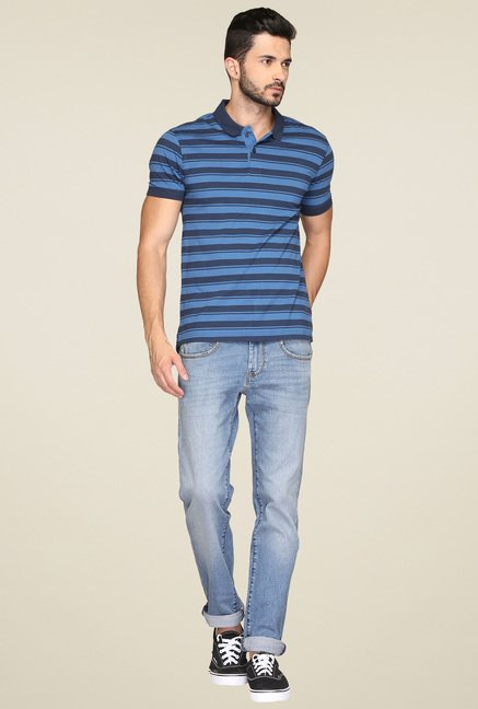 Levi's Blue & Navy Regular Fit Striped T-Shirt