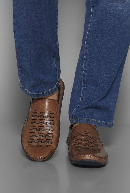 26e9cf7ae8b Buy David Jones by Westside Tan Loafers For Men Online At Tata CLiQ