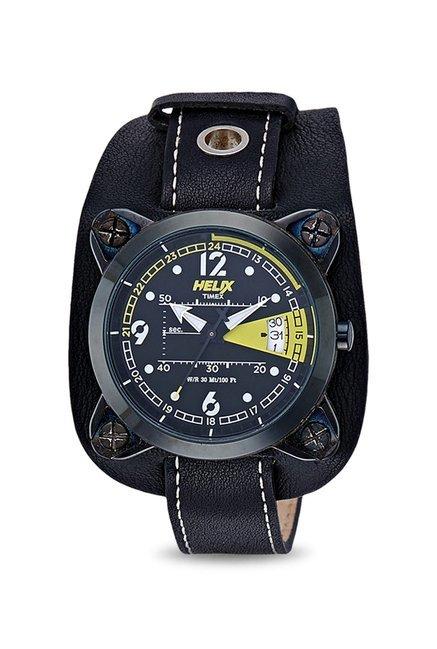 Timex Quartz Black Round Men's Watch, TW04HG03H