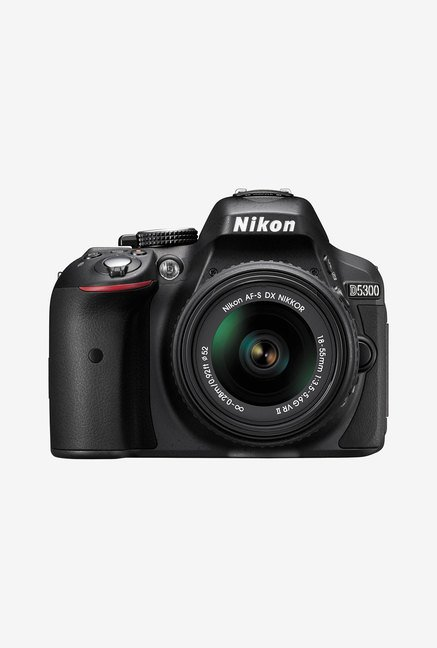 Nikon D5300  AF P 18 55 mm VR Lens  DSLR Camera 16 GB Card + Camera Bag  Black