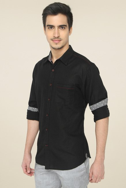 Greenfibre Black Slim Fit Shirt