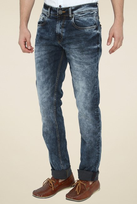 Jadeblue Dark Blue Mid Rise Slim Fit Jeans