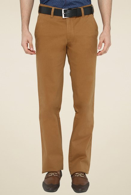 Greenfibre Brown Mid Rise Trousers