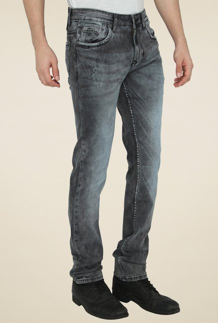 Jadeblue Grey Slim Fit Mid Rise Jeans