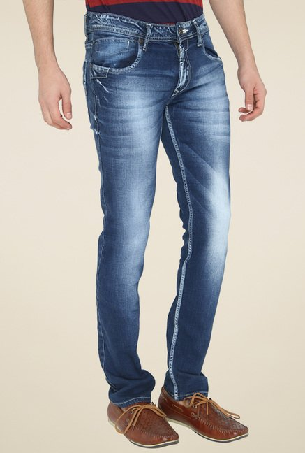 Greenfibre Blue Heavily Washed Jeans