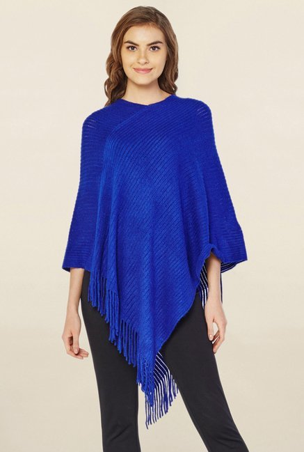 AND Blue Lace Poncho Top