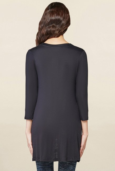 AND Black Solid Shrug