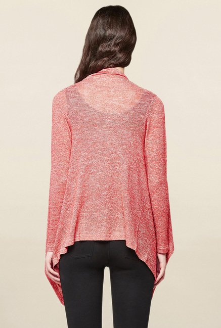 AND Red Textured Shrug