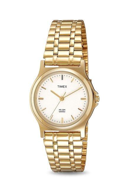 Timex ZR32 Analog White Dial Men's Watch