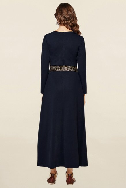 Global Desi Navy Maxi Dress
