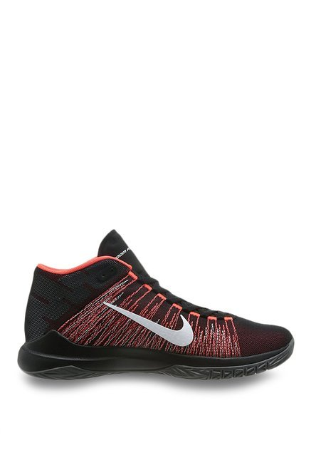 d98983bf0581 Buy Nike Zoom Ascention Black   Bright Crimson Basketball Shoes for ...