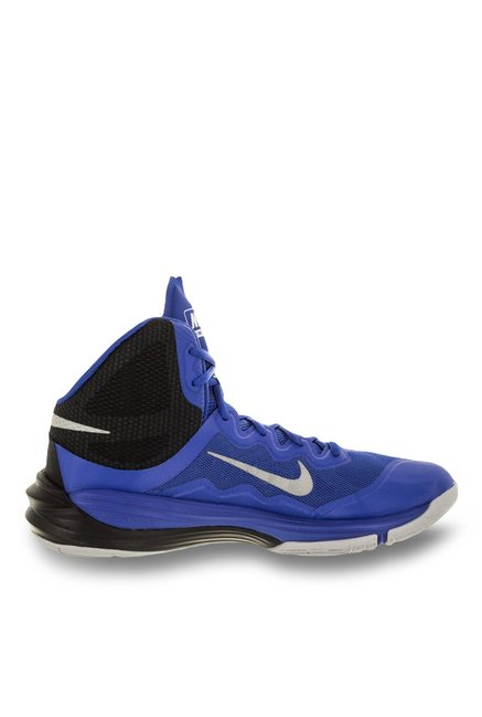 new style 29e9b 464de Buy Nike Prime Hype DF Royal Blue & Silver Basketball Shoes ...