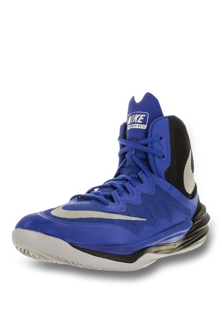 4957aea34b15 Buy Nike Prime Hype DF Royal Blue   Silver Basketball Shoes for Men at Best  Price   Tata CLiQ